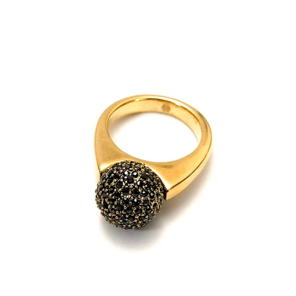 House of Harlow 1960 Jewelry - House of Harlow Diamond Orb Ring w/ Crystal Pave